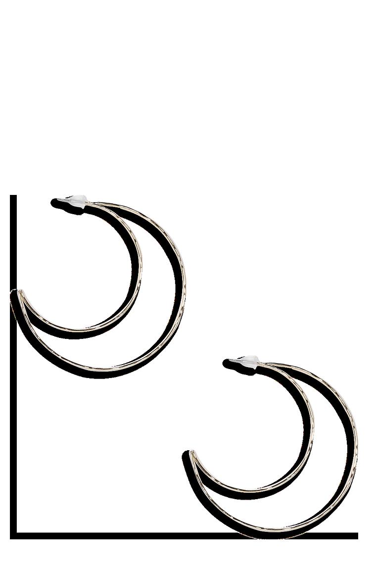 Sadie Half Moon Earrings >