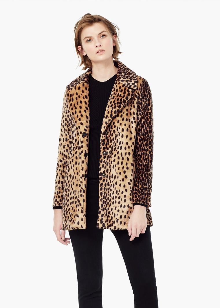 vêtement, manteau, léopard, mode